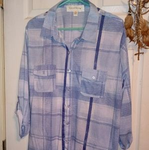 Women's Plus Size Flannel Shirt 2X
